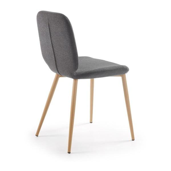 Sada 4 tmavě šedých židlí La Forma Stem