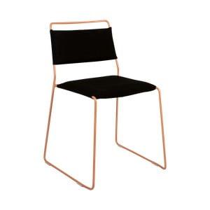 Černá židle se žlutou konstrukcí OK Design One Wire
