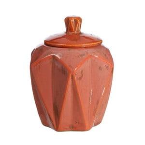 Vas decorativ din ceramică Ixia Salmon, ⌀ 19,5 cm, roșu