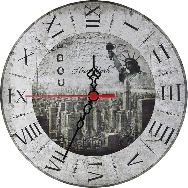 Nástěnné hodiny New York, 30 cm