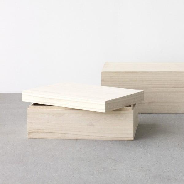 Sada 2 dřevěných boxů Boite