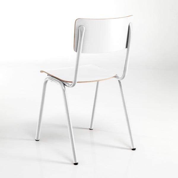 Sada 2 bílých jídelních židlí Tomasucci School