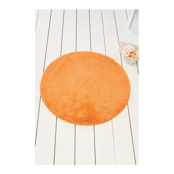Oranžová kúpeľňová predložka Colors of Cap, ⌀ 90 cm
