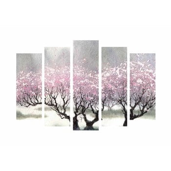 Tablou din 5 piese pe pânză Cherry Blossom de la Unknown