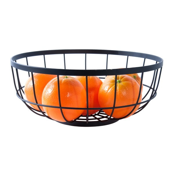 Mísa na ovoce v černé barvě PT LIVING Grid, ø28 cm