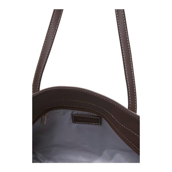 Kožená kabelka přes rameno Marta Ponti Zippy, světle hnědá/tmavě hnědá
