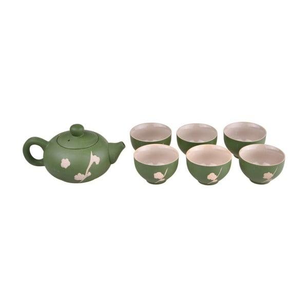 Set ceainic și 6 căni Bambum Fornia, verde