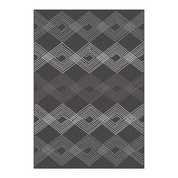 Černý koberec Universal Norway Geo,80x150cm