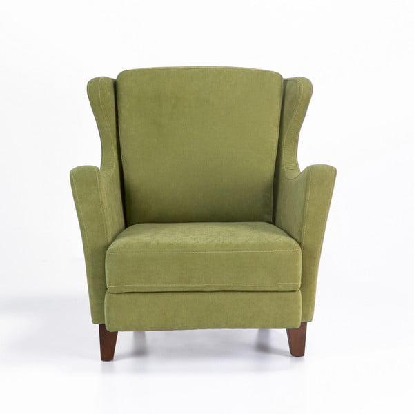 Zielony fotel uszak Balcab Home Koda