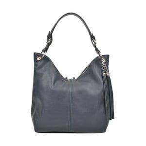 Tmavě modrá kožená kabelka Carla Ferreri Luca