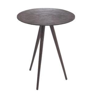 Kovový odkládací stolek J-Line Alu, tmavý