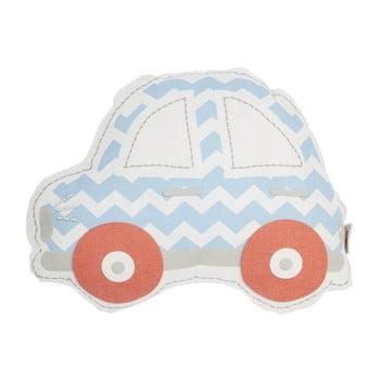 Pernă din amestec de bumbac pentru copii Apolena Pillow Toy Car, 32 x 25 cm, albastru – roșu de la Apolena