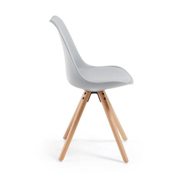Sada 4 šedých jídelních židlí La Forma Lars