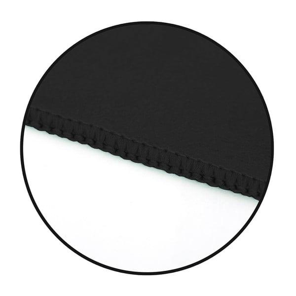 Set černé rychleschnoucí osušky a ručníku DecoKing EKEA, 70 x 140 cm + 30 x 50 cm