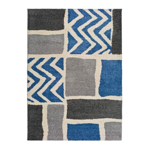 Kasbah Grey szürke-kék szőnyeg, 133 x 190 cm - Universal