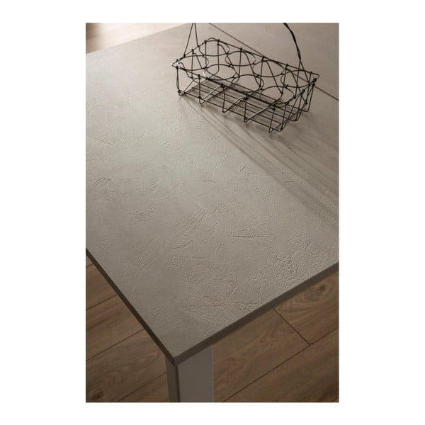 Tmavě šedý rozkládací jídelní stůl s bílou deskou Design Twist Jian