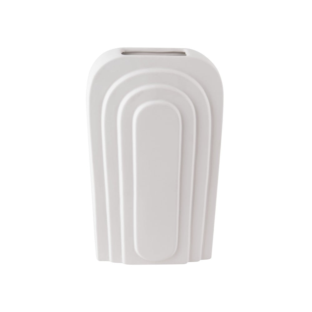 Bílá keramická váza PT LIVING Arc, výška 18 cm