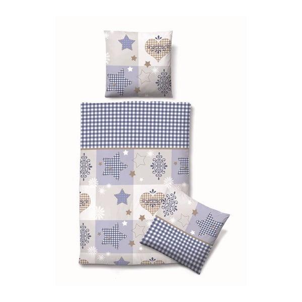 Povlečení Biber Komfort Stars Blue, 135x200 cm