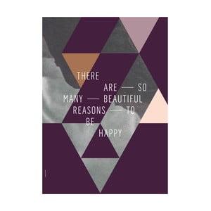 Autorský plakát Beautiful Reasons, A3