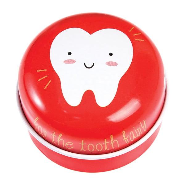 Cutie metalică pentru dinții de lapte Rex London Tooth Fairy, roșu