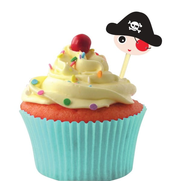 Sada Cup Cake Dekoration Pirate