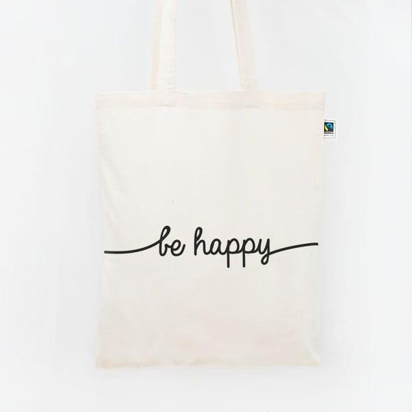 Plátěná taška Be Happy