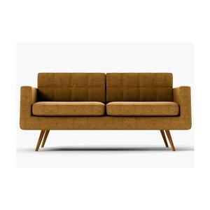 Sofa New York pro tři, zlaté