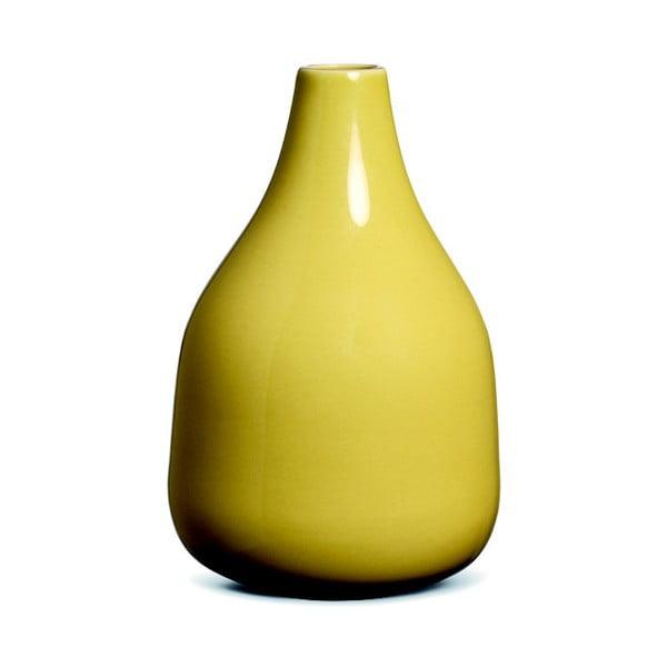 Vază din ceramică Kähler Design Botanica, înălțime 18 cm, galben