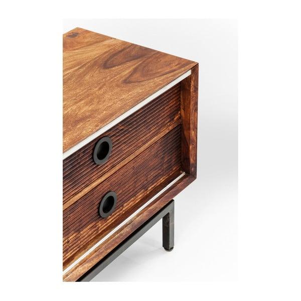 TV komoda z dřeva palisandru sheesham Kare Design Estria