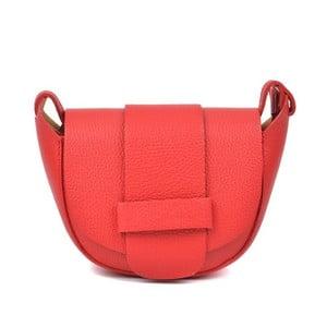 Červená kožená kabelka Roberta M Lusna