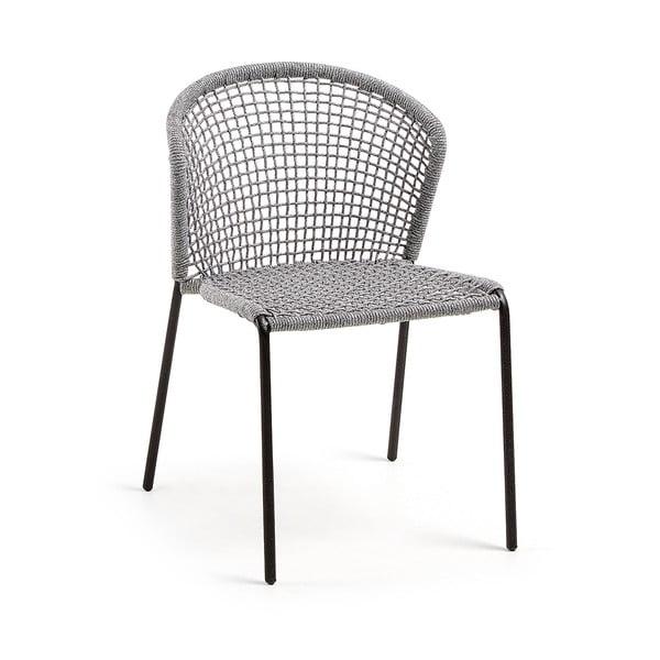Szare krzesło La Forma Mathew