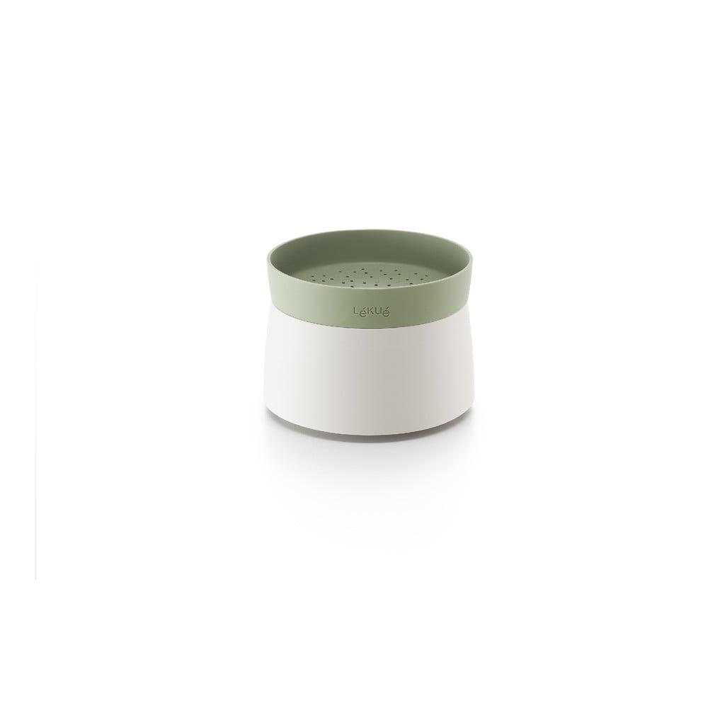 Bílá silikonová nádoba na přípravu rýže či quinoi v mikrovlnce Lékué Quick, ⌀ 13 cm