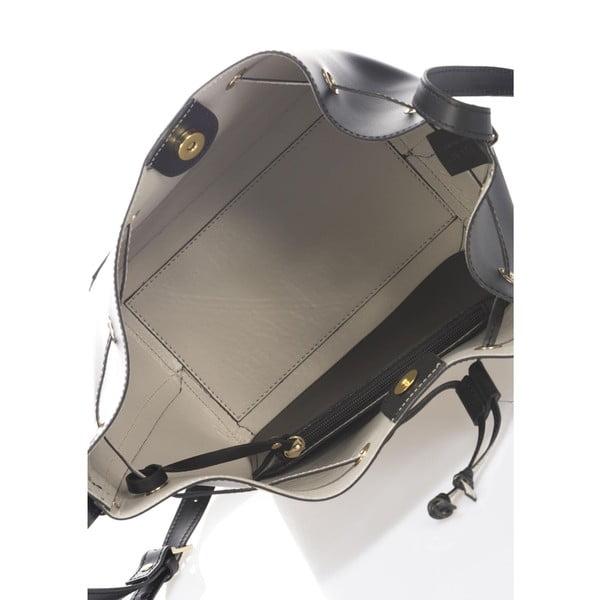 Kožená kabelka Krole Klara, černá