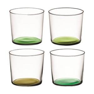 Coro Green, nízká sklenice, sada 4 ks