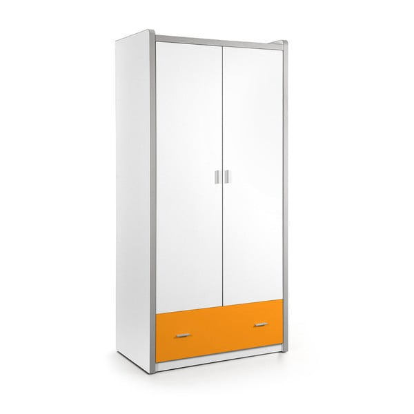 Biało-pomarańczowa szafa Vipack Bonny, 202x96,5 cm