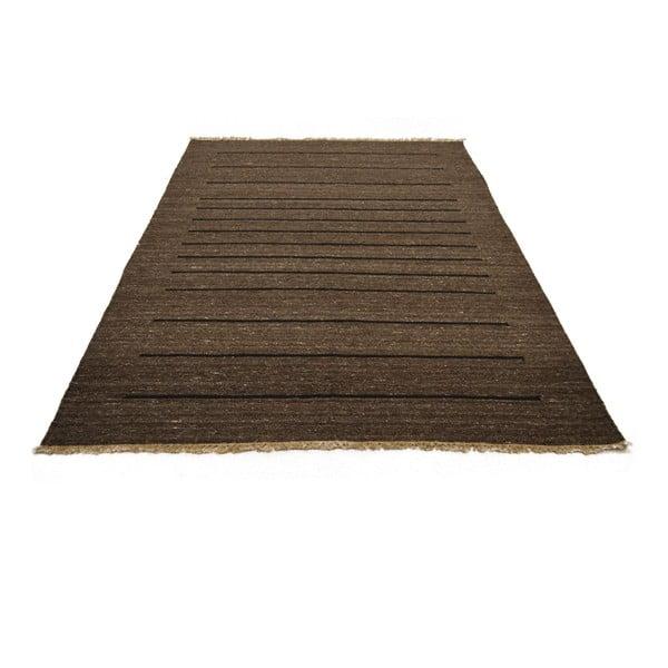 Ručně tkaný koberec Grey Beige Lines, 140x200 cm