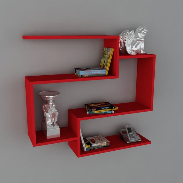 Police Porto Book Red, 22x90x82 cm