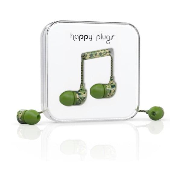 Sluchátka s nástavci Happy Plugs Camouflage