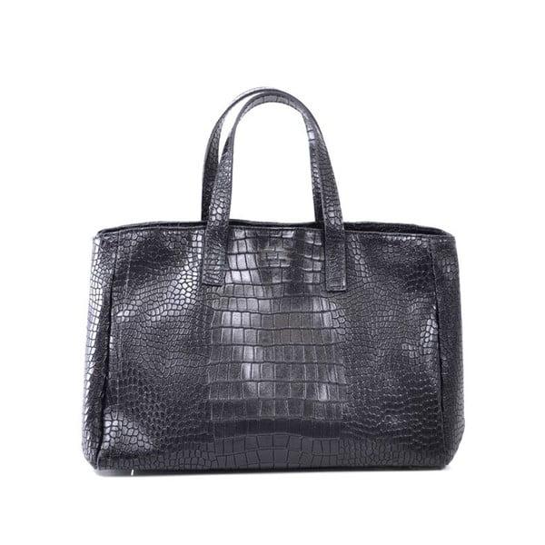 Kožená kabelka Johanne, černá