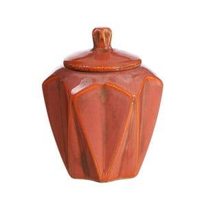 Vas decorativ din ceramică Ixia Salmon, ⌀ 14,5 cm, roșu
