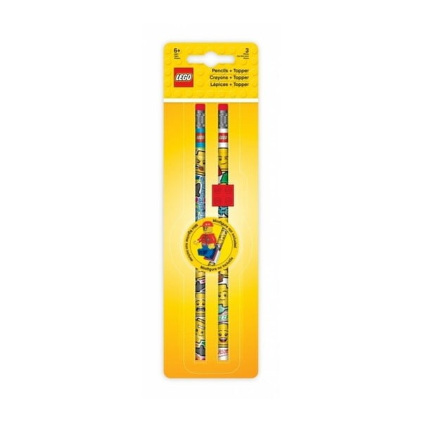 Set 2 creioane cu radieră LEGO® Iconic