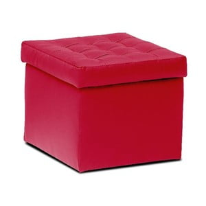 Taburet s úložným prostorem Silvia, červený