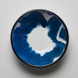 Modrobílá smaltovaná miska Kapka Little Color, Ø16,5cm