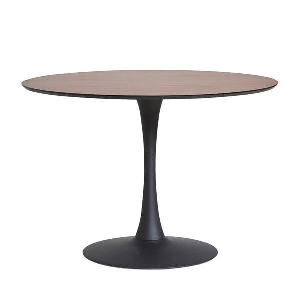 Okrągły stół do jadalni z blatem z dekorem orzecha Marckeric Oda, ⌀ 110 cm