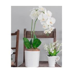 Keramický květináč s umělou květinou Orchid, 62 cm