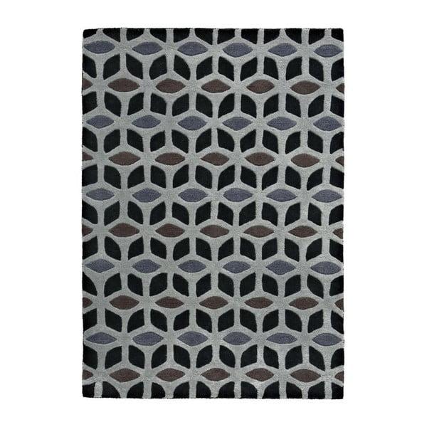Koberec Fusion Black/Grey, 150x230 cm