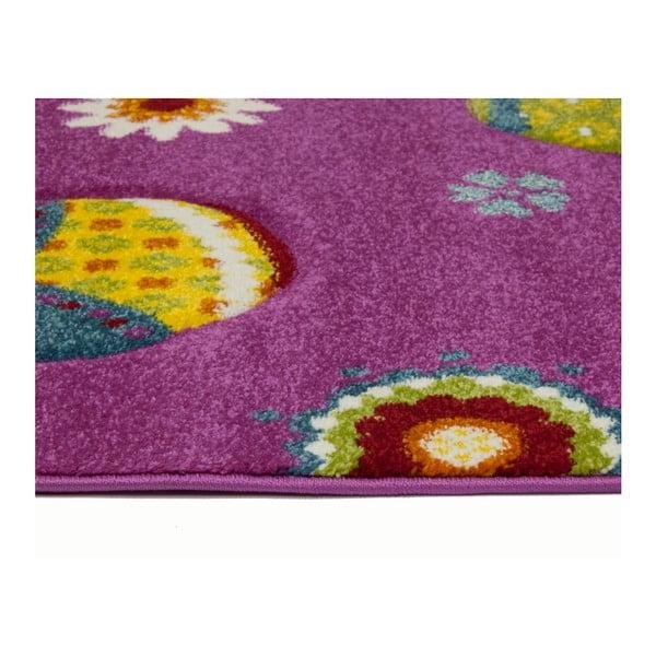 Růžový dětský koberec Universal Toys, 120 x 170 cm