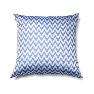 Modrý povlak na polštář z čisté bavlny Casa Di Bassi Aqua, 80 x 80 cm