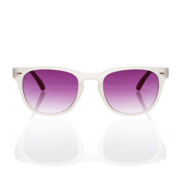 Dřevěné sluneční brýle Nacre White