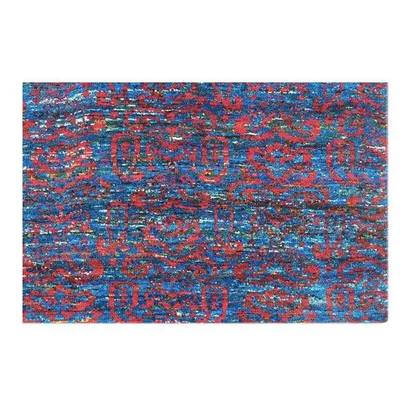 Ručně tkaný koberec Ikat H8 Blue, 160x230 cm